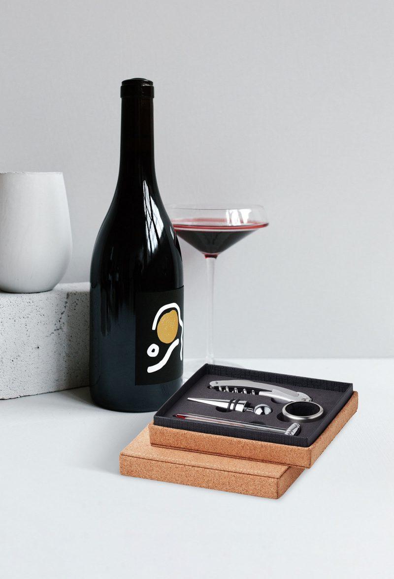 Set za vino Gisborne u eko kutiji od pluta