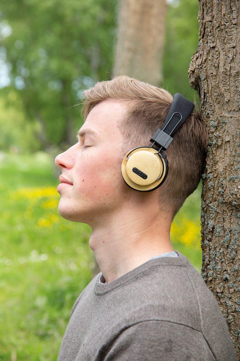 Eco bežične slušalice od bambusa