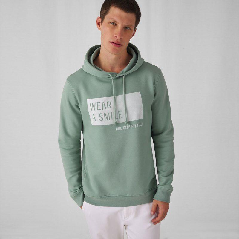 Muška majica sa kapuljačom Organic Hooded B&C