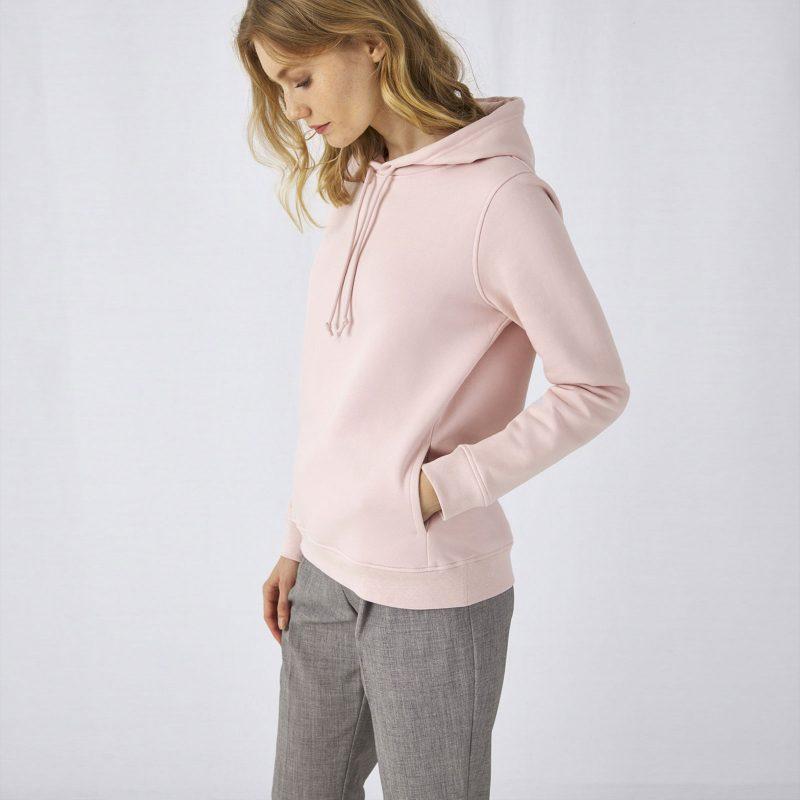 Ženska majica sa kapuljačom Organic Hooded B&C